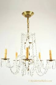 5 arm brass chandelier vintage 5 candle crystal chandelier with glass arms circa antique brass 5