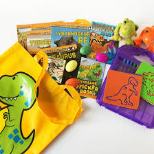 dinosaur busy bag ideas