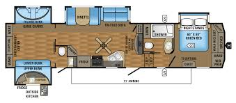 2017 eagle fifth wheels 360qbok floorplan