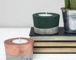 Concrete candle - Copper candle - Tea Light- Copper - Gift for her - Tea