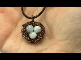 wire wrapped nest pendant tutorial