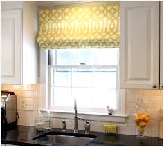 Clean Pane Large Square Yellow Motif Fabric White Ceramic Backdrop Nice  Curtains For Kitchen Windows Light Shades Modern Design