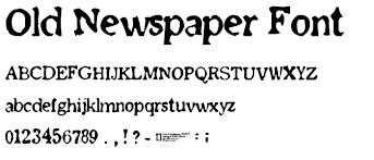 Newspaper Fonts Old Newspaper Font Font Fancy Eroded Category Pickafont Com
