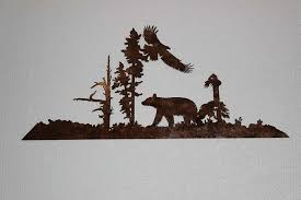 11 metal bear wall art com say it all on the wall bear and eagle