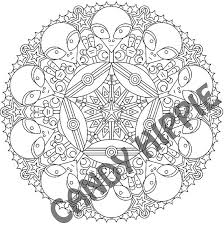 Small Picture Mandala Coloring Page Little Green Friends printable