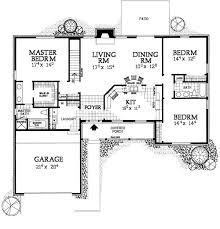 Eplans Ranch House Plan  Traditional Style Ranch Home  1500 House Plans Ranch