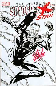 superior spider man 16 fan expo sketch variant signed stan lee marvel ic book