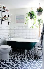 Black And White Bathroom Decor Black And White Floor Tile Bathroom White Wall Mounted Sink White