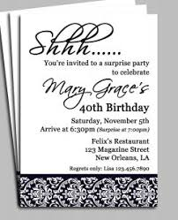 Surprise Party Invitations Templates Free Template 60th