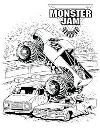 Monster Truck Coloring Pages Pdf Monster Truck Coloring Page Free