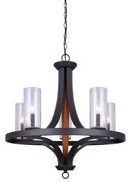 canarm ich460b05rbw arrow 5 light chandelier oil rubbed bronze and faux wood