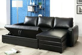 sectional sofa bed with storage black faux leather sectional sofa bed with left facing storage chaise