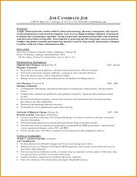 Pharmacist Assistant Resumes Resume Resume Sample For Pharmacy Assistant