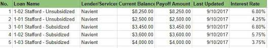 Multiple Student Loan Calculator How To Keep Track Of Your Student Loans Free Spreadsheet