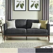 loveseat sofa linen upholstered sofa and by inspire q modern loveseat sleeper sofa covers