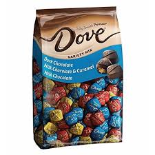dove promises variety mix chocolate candy 43 07 ounce 153 piece bag