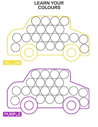Learn Colors With Cars Do A Dot Transportation Worksheets For Kids