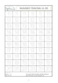 Tracing Numbers 11 20 Number Tracing Worksheets Numbers To Flash ...