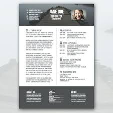 Modern Resume Template Free Download Creative Resume Templates Free