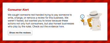 Reviews Yelp With Alert Consumer Labels Now Fraudulent