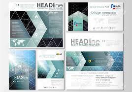 Social Media Design Templates Social Media Posts Set Business Templates Cover Design Template