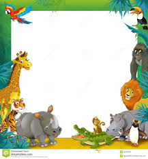 jungle animals border clipart.  Animals Cartoon Safari  Jungle Frame Border Template Illustration For The  Children Download From Over 29 Million High Quality Stock Photos Images Vectors To Animals Clipart