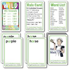 Action Words List Custom RControlled Vowel Words Ages 44848 C48A StrongLearningGames