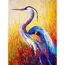 modern canvas wall art for home and office decoration oil painting print art animal on canvas on heron canvas wall art with amazon modern canvas wall art for home and office decoration