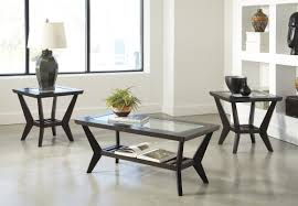table set woodrow 3 piece coffee table set in brown uocpcwc