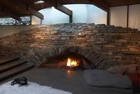 diy outdoor stone fireplace kits