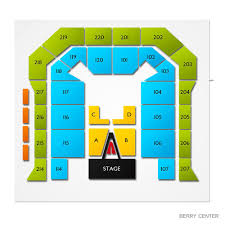 Berry Events Center Seating Chart Berry Center 2019 Seating Chart
