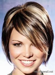 blonde highlights in short black hair background wallpaper hd