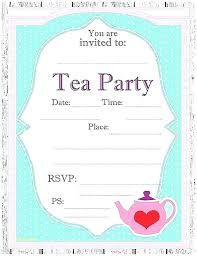 tea party templates victorian tea party invitation template tea party invitation