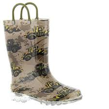 Western Chief Toddler Rain Boots Size Chart Western Chief Kids Mens Busy Bulldozer Lighted Rain Boot Toddler Little Kid