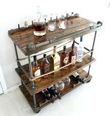 unique bar furniture. Whiskey Bar Furniture Wood Cart Rustic Industrial Pipe Unique Bars