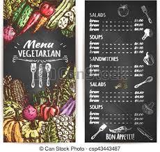 Chalk Board Menu Board Vegetarian Restaurant Menu Chalkboard With Veggies