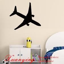 2017 hot diy holiday airplane wall decals kids bedroom vinyl adhesive stickers home decor aircraft silhouette wall stickers decorative wall art stickers
