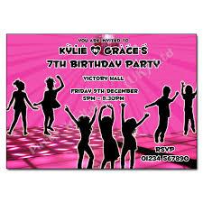 Childrens Disco Invitations Pink Disco Invitation