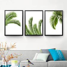 palm leaves wall art