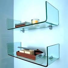 custom floating glass shelves home depot office design s custom floating glass shelves