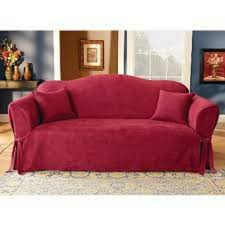 sure fit soft suede sofa slipcover in