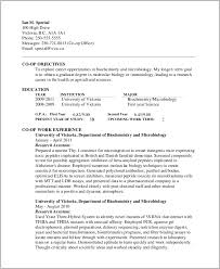 Microbiologist Entry Level Resume