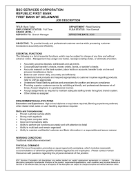 Resume Examples For Teller Position Resume Examples