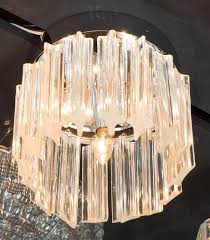 mid century modernist cut crystal flush mount chandelier by camer this flush mount chandelier