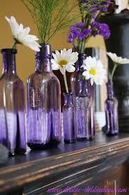 purple vintage bottles