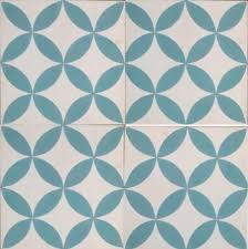 petals blue encaustic tile kids bathroom