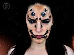 spider face makeup tutorial for