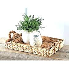 baskets for under coffee table basket storage round wicker