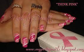 My Pretty Nailz: THINK PINK NAILS - Breast Cancer Awareness Nails ...