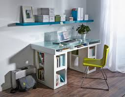 Home office desk with storage Small Home Office Desk Or Craft Centre With Plenty Of Storage Space Horiaco Home Dzine Home Diy Home Office Desk With Glasstopped Storage Space